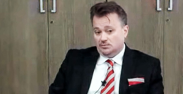 George David Banks speaking at an East Asia Institute Forum. Photo credit: East Asia Institute/YouTube