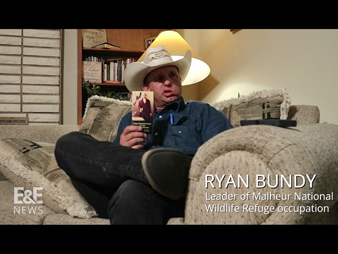 Malheur National Wildlife Refuge occupation leader Ryan Bundy at his home in Mesquite, Nev. Photo credit: Jennifer Yachnin (reporting); Chris Farmer (editing); Katie Howell (production)/E&E News
