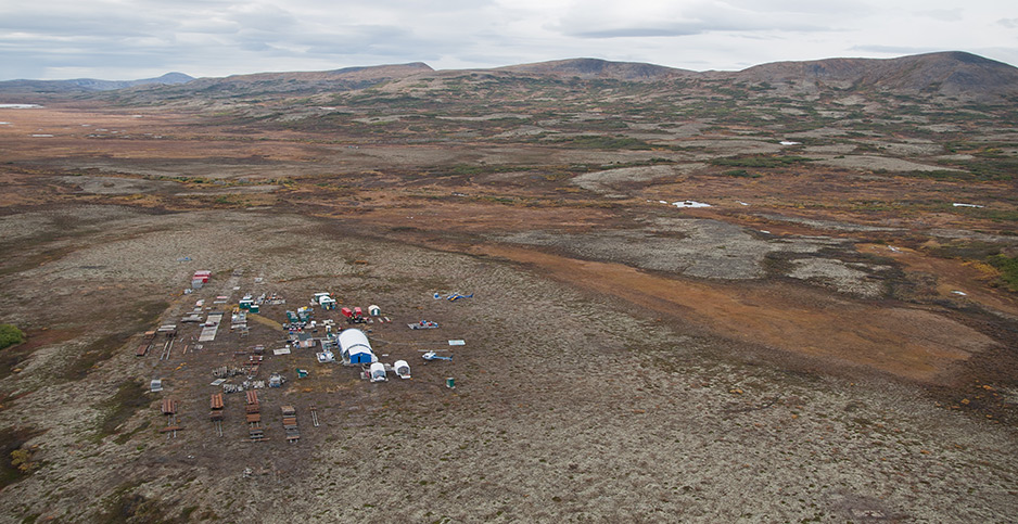 Aerial view of Pebble Mine camp. Photo credit: Jason Sear/Flickr