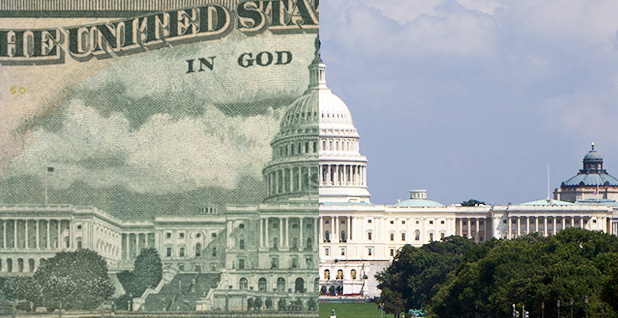 Capitol and $20 bill. Photo credit: Wikipedia (money); Ed Uthman/Flickr (Capitol)