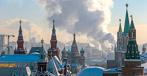 Moscow skyline at sunset. Photo credit: Mikhail Metzel/Associated Press