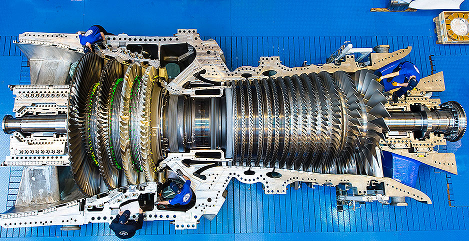 General Electric HA gas turbine. Photo credit: GE