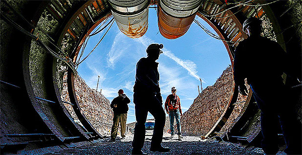 Yucca Mountain nuclear waste respository. Photo credit: John Locher/Associated Press