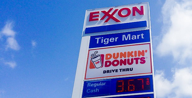 Sign at an Exxon gas station. Photo credit: Mike Mozart/Flickr