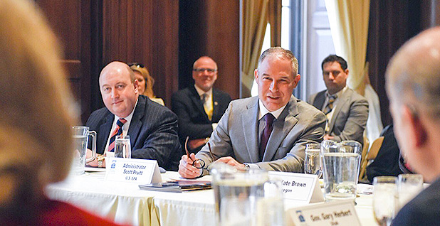 Ryan Jackson, left, and EPA Administrator Scott Pruitt. Photo credit: @EPAScottPruitt/Twitter