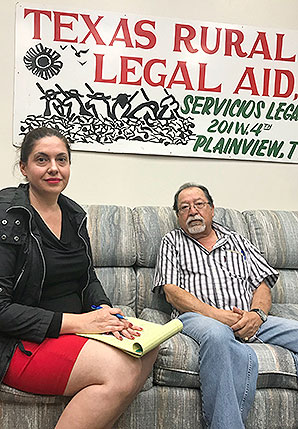 Daniela Dwyer and Jose Torres of Texas RioGrande Legal Aid. Photo credit: Scott Waldman/E&E News