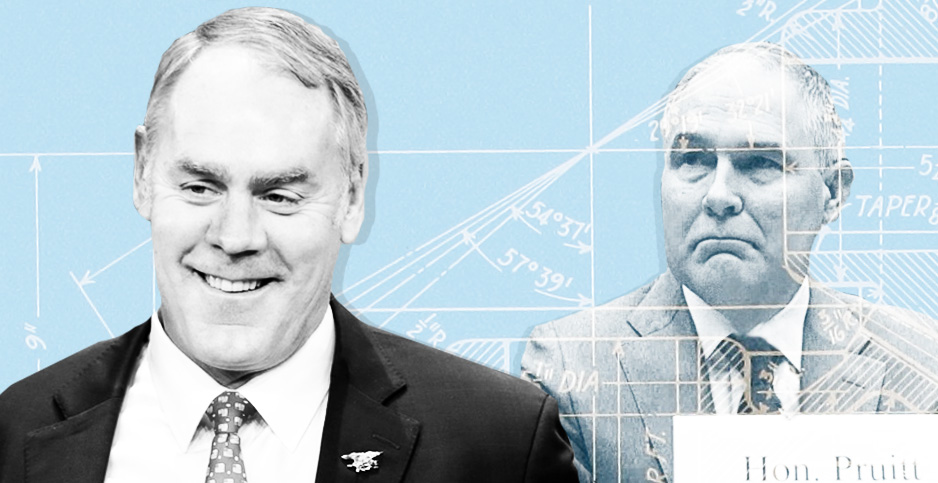 Ryan Zinke and Scott Pruitt photo illustration graphic. Image credit:
