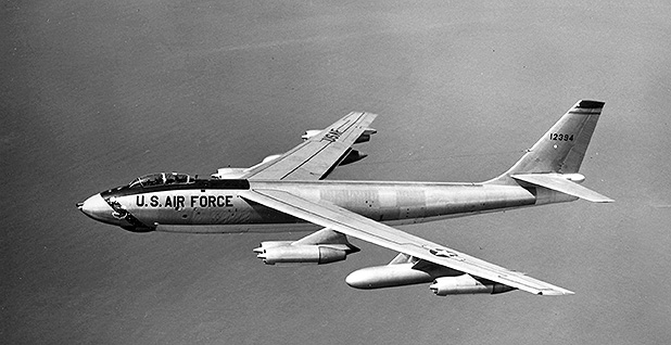 Boeing B-47 Stratojet in flight in 1956. Photo credit: U.S. Air Force