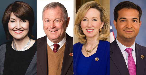 Reps. Cathy McMorris Rodgers, Dana Rohrabacher, Barbara Comstock and Carlos Curbelo . Photo credit: Congress/Wikipedia