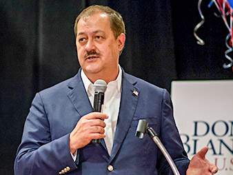 Don Blankenship. Photo credit: Craig Hudson/Charleston Gazette-Mail/Associated Press