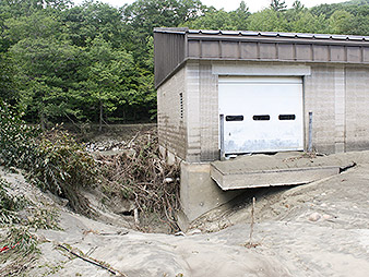 Hatchery storm damage. Photo credit: Ann Froschauer/Fish and Wildlife Service/Flickr