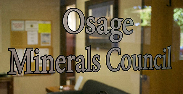Osage Minerals Council sign. Photo credit: @Osagenation/Twitter