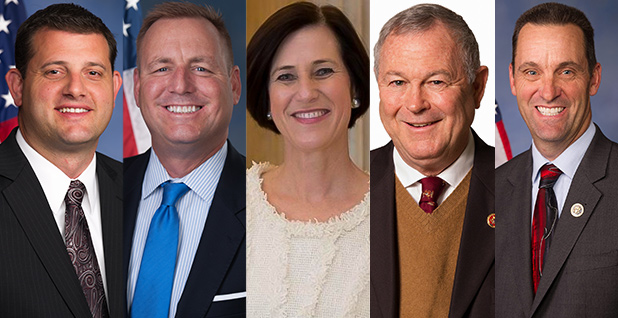 California Republican Reps. David Valadao, Jeff Denham, Mimi Walters, Dana Rohrabacher and Steve Knight. Photo credit: Congress/Wikipedia