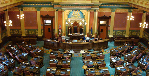 The Michigan House of Representatives considers legislation to expand solar. Photo credit: xnatedawgx/Wikimedia Commons