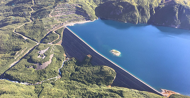 Terror Lake hydroelectric dam. Photo credit: Kodiak Electric Association