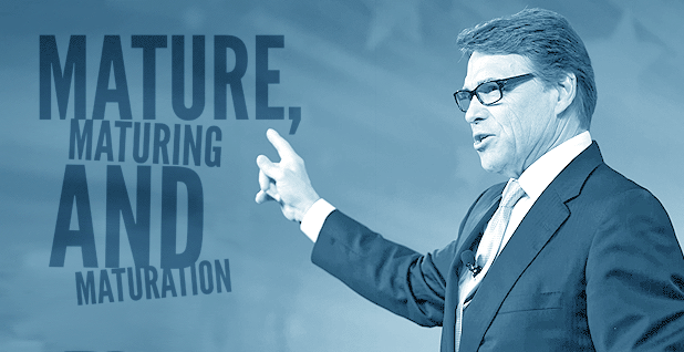 Rick Perry photo illustration. Photo credit: Claudine Hellmuth/E&E News (illustration); Michael Vadon/Flickr (Perry)