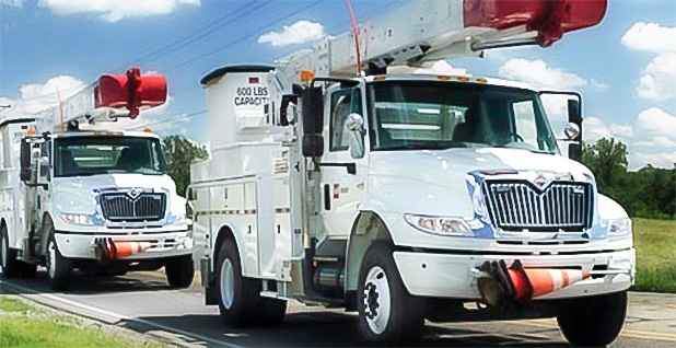 AEP Ohio service trucks. Photo credit: AEP