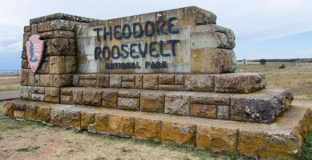 Sign for Theodore Roosevely National Park. Photo credit: m01229/Flickr