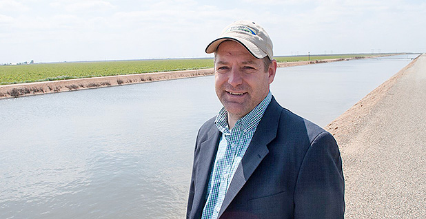 Doug DeFlitch by Friant-Kern Canal. Photo credit: Jeremy P. Jacobs/E&E News