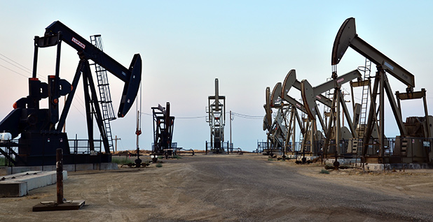 Oil and gas drilling operations in California. Photo credit: Bureau of Land Management California/Flickr