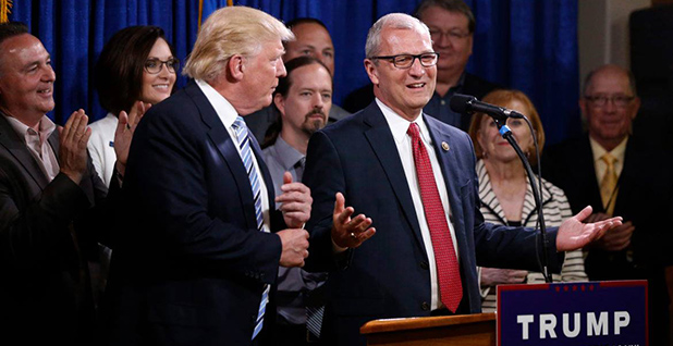 Rep. Kevin Cramer (R-N.D.) with President Trump. Photo credit: @kevincramer/Twitter
