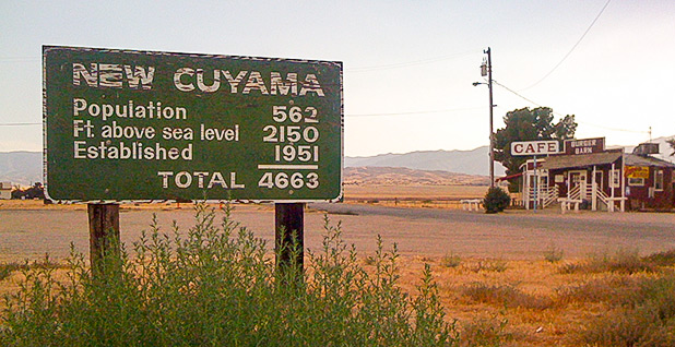 New Cuyama welcome sign. Photo credit: ryangs/Flickr