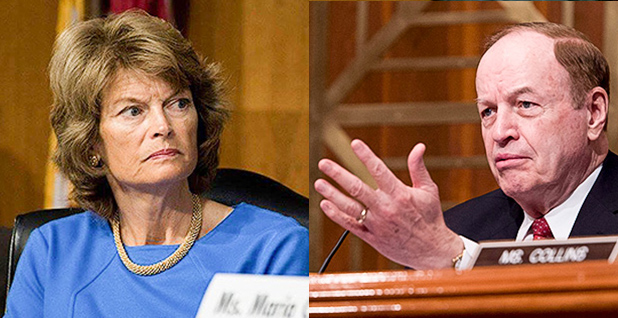 Sens. Lisa Mrkowski (R-Alaska) and Richard Shelby (R-Ala.). Photo credit: Senate Energy and Natural Resources Committee (Murkowski); Department of Defense (Shelby)