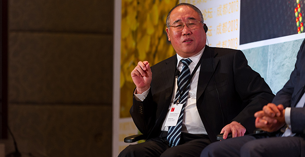 Xie Zhenhua, former vice-chairman of China's National Development and Reform Commission, at a climate change forum. Photo credit: Stefen Chow/Fortune Global Forum/Flickr