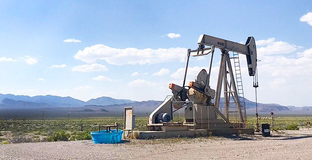 Oil and gas well in Nevada. Photo credit: Ellen M. Gilmer/E&E News