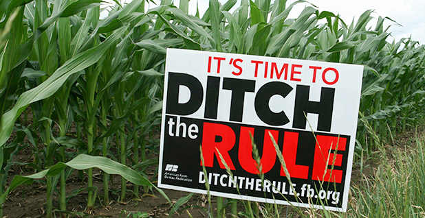 Ditch the rule sign. Photo credit: Wisconsin Farm Bureau Federation