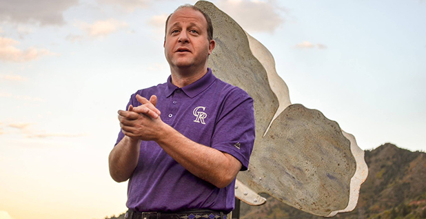 Rep. Jared Polis (D-Colo.) is pictured with mountains in the background. Photo credit: Jared Polis/Facebook