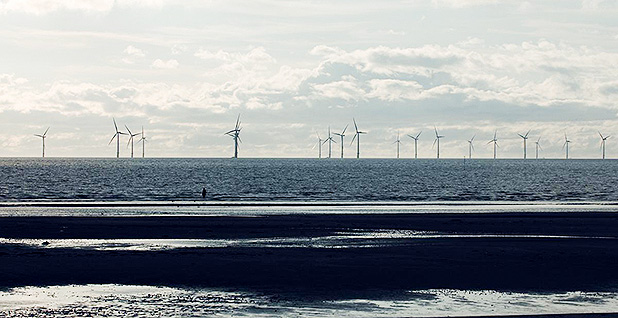 Burbo Bank offshore wind farm off the coast of the United Kingdom. Photo credit: U.K. Department of Energy and Climate Change/Flickr