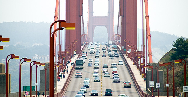 Traffic on the Golden Gate Bridge. Photo credit: Art Bromage/Flickr