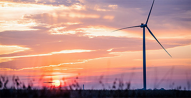 A turbine at MidAmerican Energy's Beaver Creek wind farm. Photo credit: Mortenson