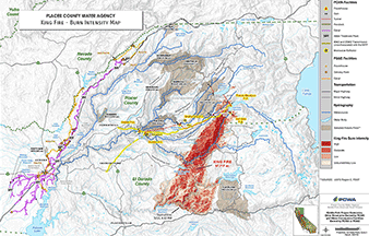 Fire history map. Photo credit: Placer County Water Administration