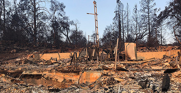 Wildfire destroyed Patrick McCallum and Judy Sakaki's house in Santa Rosa, Calif., last year. Photo credit: Patrick McCallum
