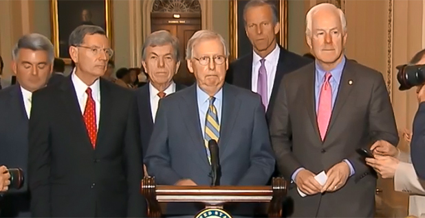 Senate Majority Leader Mitch McConnell (R-Ky.). Photo credit: C-SPAN