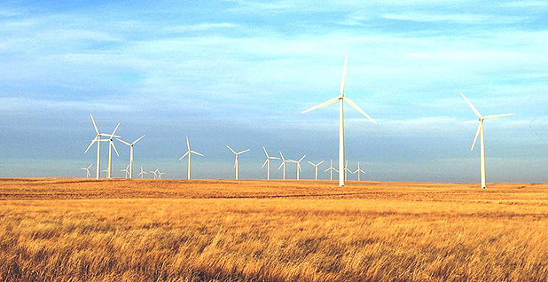 Wind turbines generate power in Wyoming. Photo credit: Paul Cryan/U.S. Geological Survey.