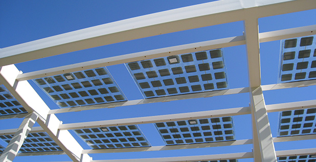 Solar panels on a building in Scottsdale, Ariz. Photo credit: Dru Bloomfield/Flickr