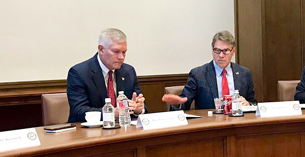Pete Sessions and Rick Perry. Photo credit: @SecretaryPerry/Twitter