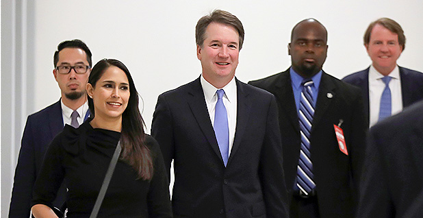 Brett Kavanaugh on Capitol Hill. Photo credit: Chris Wattie/Reuters/Newscom
