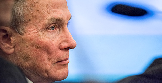 William Happer. Photo credit:Ken Cedeno/Greenpeace.
