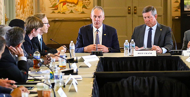 Interior Secretary Zinke meets with members of the Hunting and Shooting Sports Conservation Council. Photo credit: @SecetaryZinke/Twitter