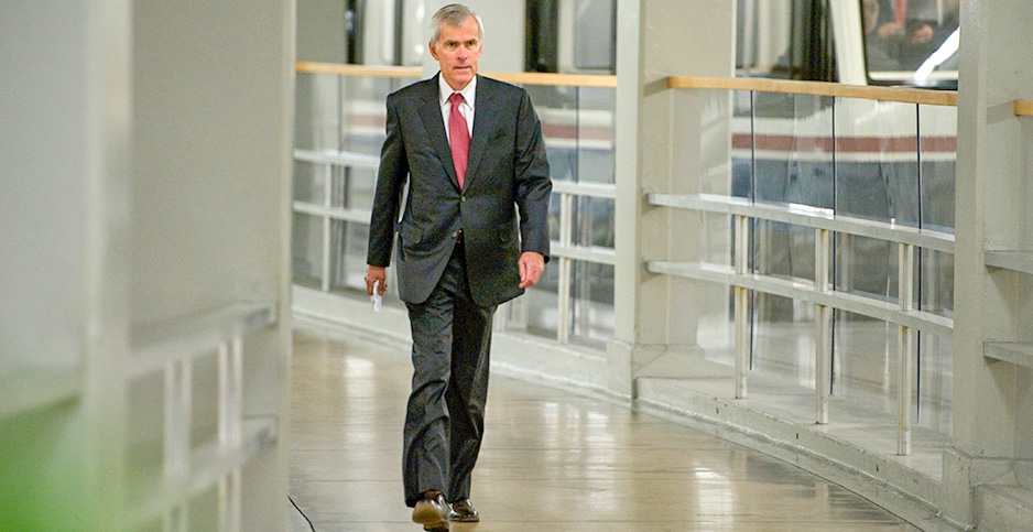 Jeff Bingaman. Photo credit: Tom Williams/Roll Call via Getty Images/Newscom