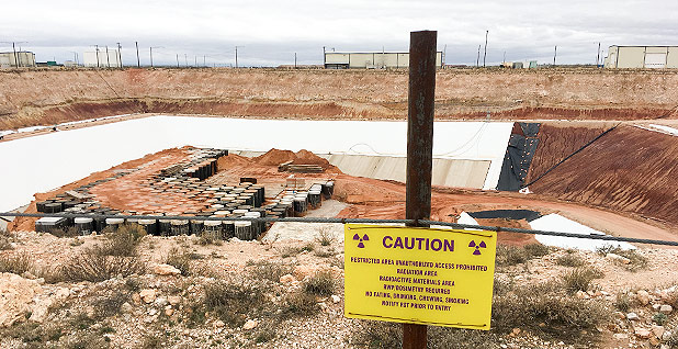 West Texas nuclear waste storage. Photo credit: Edward Klump/E&E News