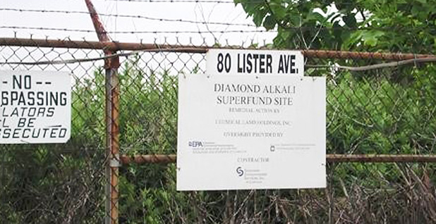 Diamond Alkali Superfund site. Photo credit: Greenfaith