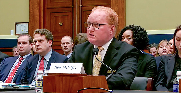 Kevin McIntyre. Photo credit: House Energy and Commerce Committee