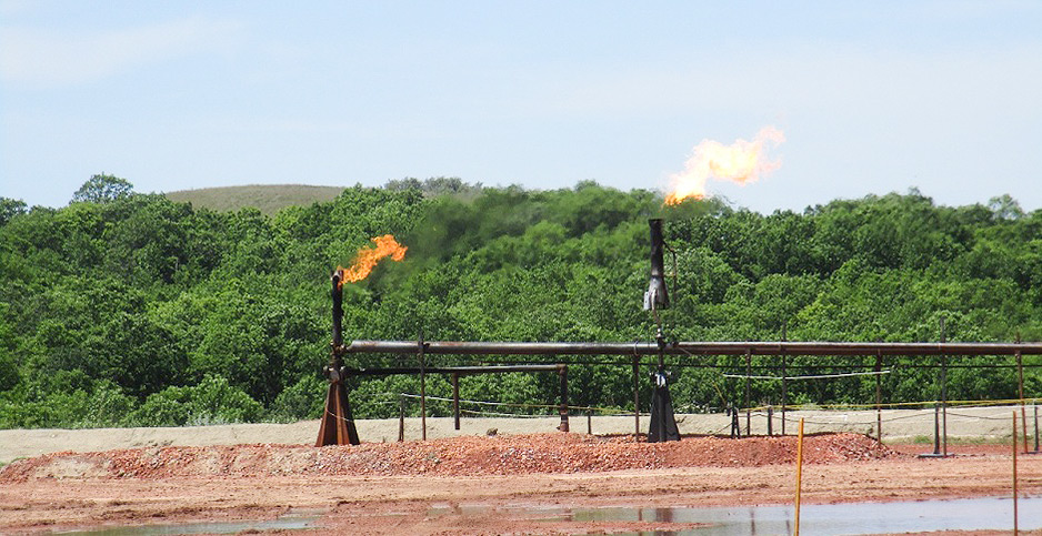 Methane flare from and oil and gas operation. photo credit: Interior Department