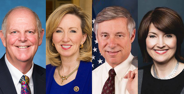 Reps. Tom O'Halleran (D-Ariz.), Barbara Comstock (R-Va.), Fred Upton (R-Mich.) and Cathy McMorris Rodgers (R-Wash.). Photo credit: U.S. House/Wikipedia