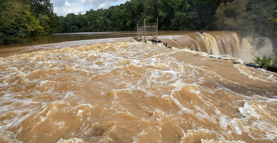Dam at Polecat Creek in Randleman, N.C. Photo credit: Jerry Wolford/Perfecta Visuals/Polaris/Newscom